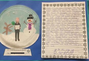 Snow Globe Art and Writing Templates