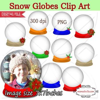 Snow Globe Clip Art Christmas clipart,winter Christmas clip art,