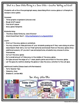 FREE Snow Globe Creative Writing and Craft