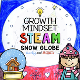 Snow Globe Directed Drawing Growth Mindset Winter STEAM Activity