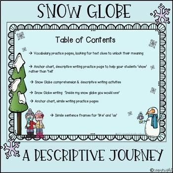 Snow Globe Family Similes, Vocabulary, Descriptive Writing