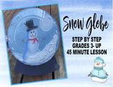 Snow Globe Holiday Christmas art project craft kids snowma