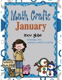 Snow Globe January Math Crafts Freebie