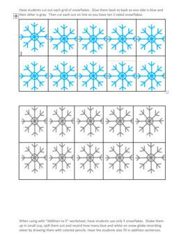 Snow Globe Math~Addition