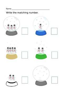 Snow Globe Math and Literacy Activities