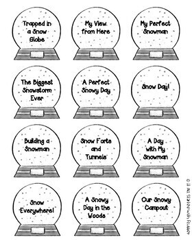 Snow Globe Narrative Writing Freebie
