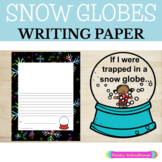 Snow Globe: Primary Writing Paper With Drawing Square & Without