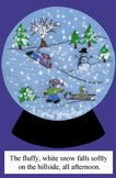 Snow Globe Sentence Writing