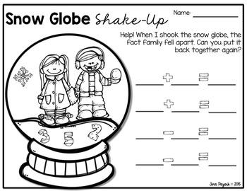 Fact Family Snow Globe Shake Up