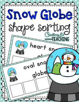 Snow Globe Shape Sorting