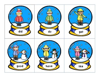Snow Globe Sight Words