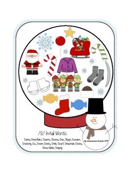 Snow Globe Speech Activities for /S/ 'I Spy' + More!