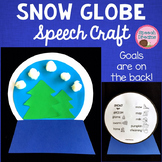 Winter Snow Globe Speech Therapy Craft {language & articulation}