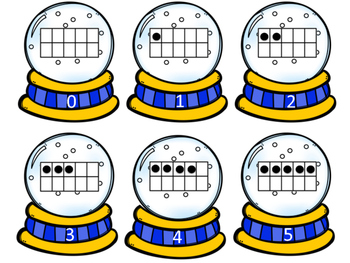 Snow Globe Ten Frame Match 0-20