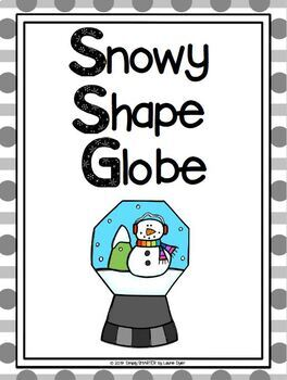Snow Globe Themed Cut and Paste Shape Math Craftivity
