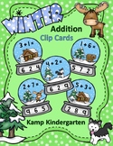 Winter Snow Globe Addition Within 10 Clip Card Math Centers