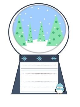Snow Globe Winter Writing