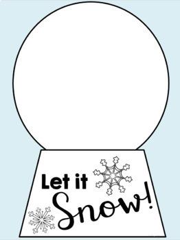 Snow Globe Writing Craft