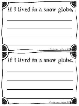 Snow Globe Writing Craftivity