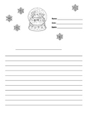 Snow Globe Writing Paper Lined