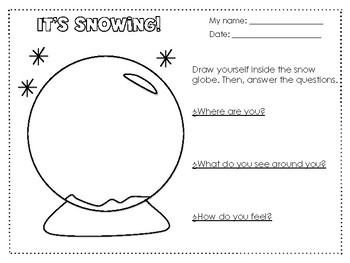 Winter creative writing Snow Globe