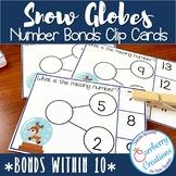 Snow Globes Number Bonds Interactive Task Cards Center
