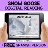 Snow Goose Reading Comprehension for Google Classroom - Di