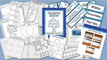 Snow Interactive Notebook - Winter - Let's Discover Snow - Science & Discovery