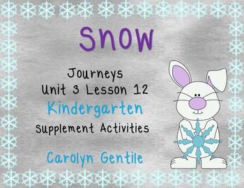Snow Journeys Unit 3 Lesson 12 Kindergarten Supp. Act.