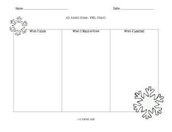 Snow KWL Chart (Version 2)
