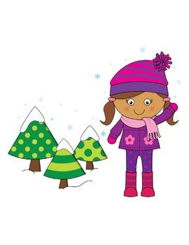 Snow Kids Clip Art Images