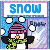 Snow Kindergarten NO PREP Winter Weather Supplemental Printables