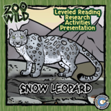 Snow Leopard - 15 Resources - Leveled Reading, Digital INB, Slides & Activities