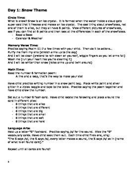 Snow Lesson Plan (5 days)