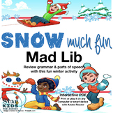 Snow Mad Lib (interactive pdf, Google Slide, & Printable)