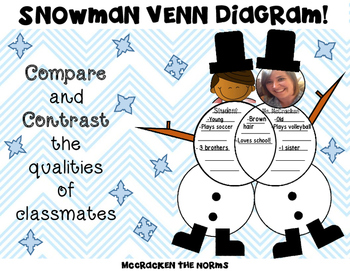 Snowman Venn Diagram Craftivity