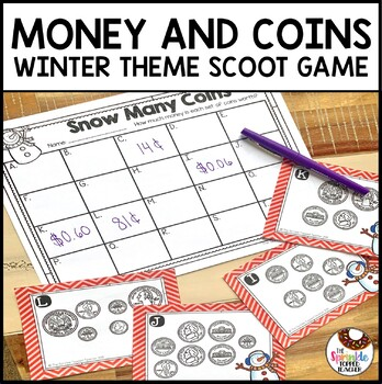 Snow Many Coins - Money Scoot Task Card Game