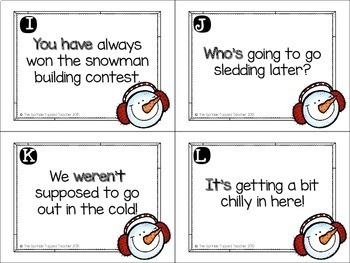 Snow Many Contractions Task Card Scoot Game