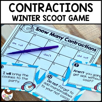 Contractions Scoot Game | Winter Task Cards