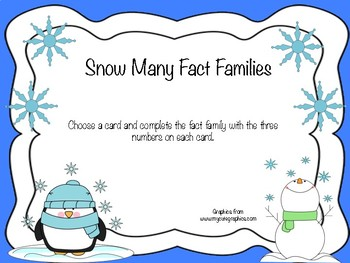 Snow Many Fact Families