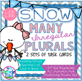 Irregular Plurals Task Card Set L.2.1b - L.3.1b Color & Print-Friendly Versions