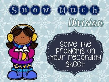 Snow Many Math Centers *freebie*