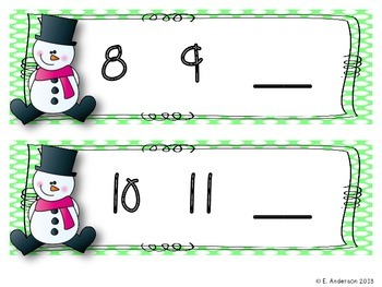 """""""Snow"""" Many Numbers Mini Pack"""