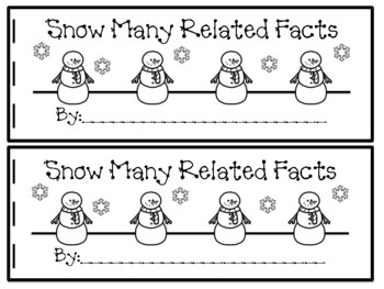 Snow Many Related Facts Book FREEBIE