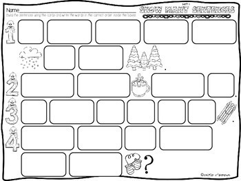 Snow Many Sentences {Winter Sentence Building Activities for January}