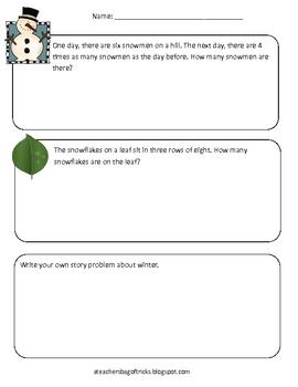 Snow Math - Multiplication