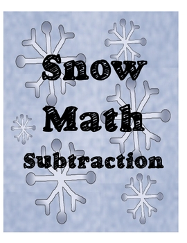 Snow Math - Subtraction