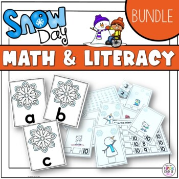 Snow Math and Literacy Bundle aligned to common core
