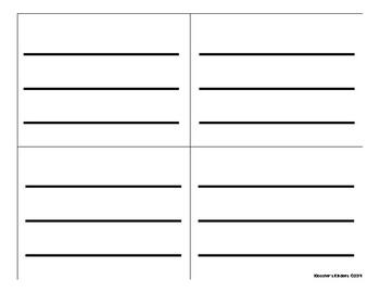 Snow Mini Book Form - Nonfiction Writing