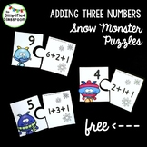 Snow Monster Addition Puzzles {FREEBIE!}